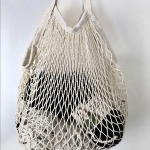Agnes crochet natural mesh market/crafting tote
